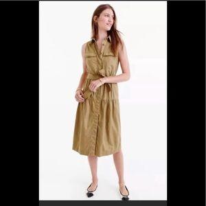 JCrew Khaki Midi Dress Size 8